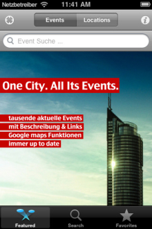 Vorschau Vienna Events – iPhone App