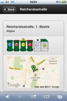 Vorschau iDump – Altstoffsammelstellen am Smartphone