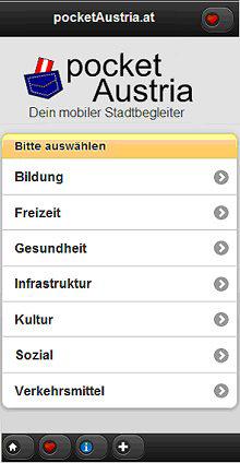 pocket Austria: reale Städte in virtueller Applikation