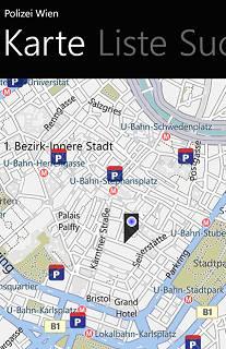 Vorschau Polizei Wien – Windows Phone App