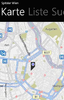 Vorschau Spitäler Wien – Windows Phone App