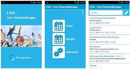Vorschau LiVe – Linz Veranstaltungen