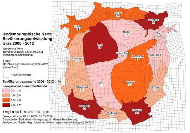 Vorschau Visualisierung der Grazer Bevölkerungsentwicklung