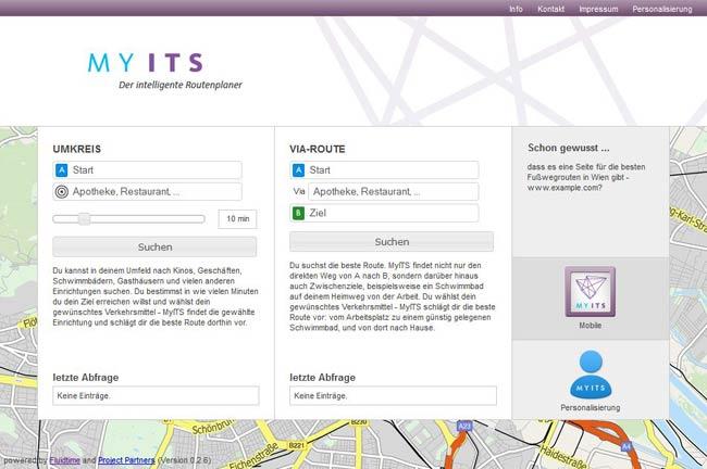 Vorschau MyITS – Der intelligente Routenplaner