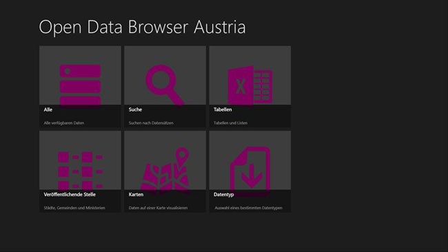 Vorschau Open Data Browser Austria