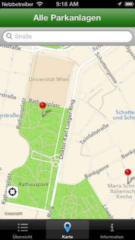 Vorschau Park Finder Vienna