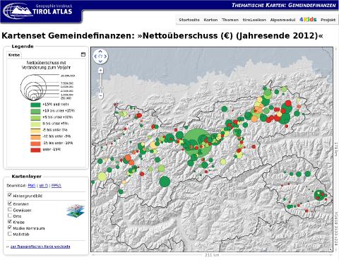 Vorschau Tirol Atlas: Gemeindefinanzen