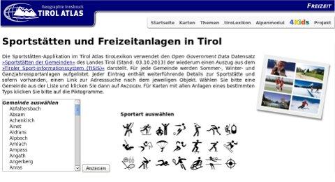 Vorschau Tirol Atlas: Sportstätten