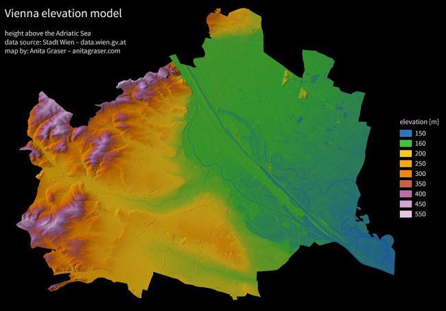 Vorschau Digitales Geländemodell Wien 5m-Raster
