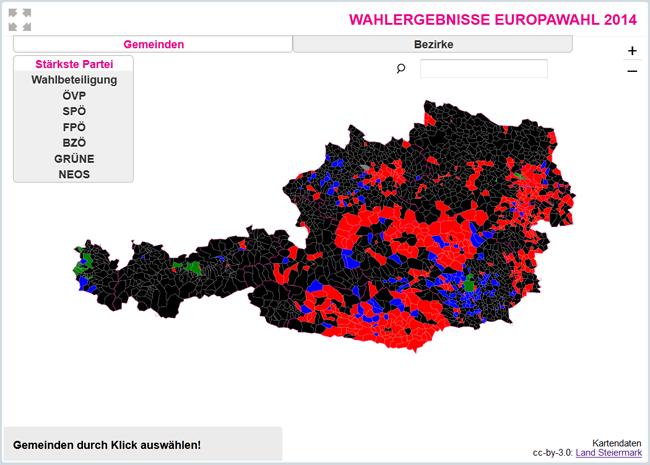 Vorschau EU-Wahl 2014 – Die Ergebnisse in Ihrer Gemeinde