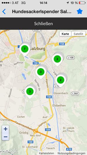 Vorschau Dog Toilet Map Salzburg