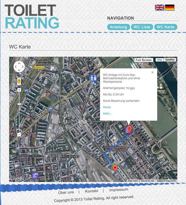 Vorschau Toilet Rating