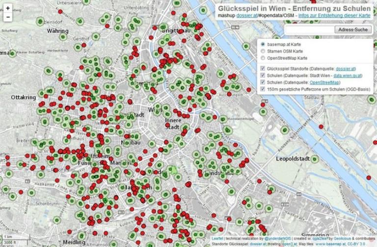 Vorschau Open Data-Mashup zum kleinen Glücksspiel und Schulen
