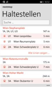 Vorschau Nextstop Wien für Windows Phone