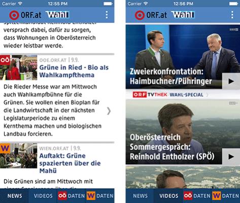Vorschau ORF.at Wahl-App