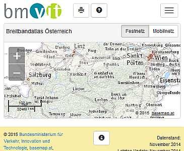 Vorschau Breitbandatlas Österreich (BMVIT)