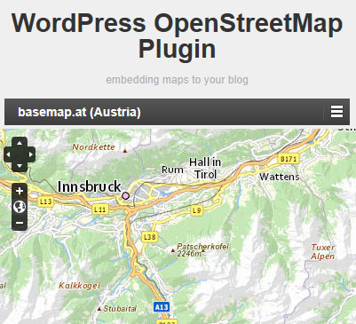 Vorschau WordPress OpenStreetMap Plugin