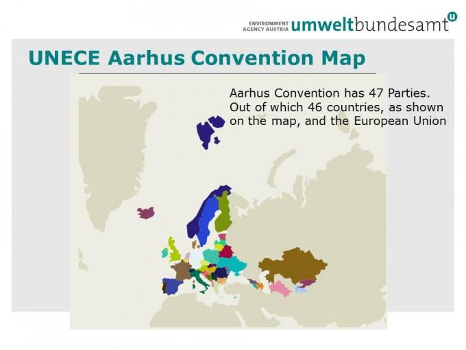 UNECE Aarhus Convention Map