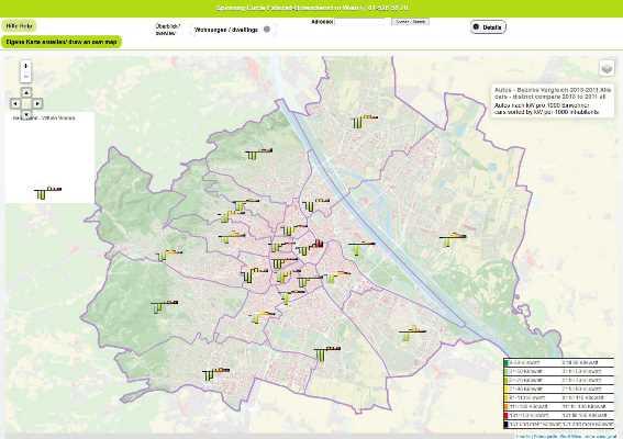 Vorschau Daham in Wien, interaktiver Atlas von Wien