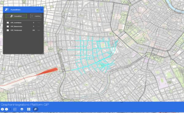 Vorschau Web-Applikation zur Graphenintegrations-Plattform GIP