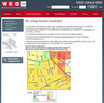 Vorschau Standortanalyse zur Standortsuche in Wien