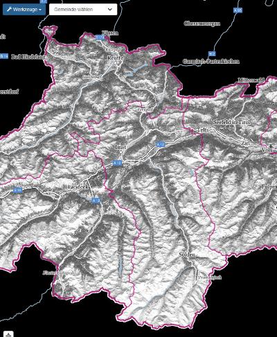 Vorschau Solarpotenziale Tirol