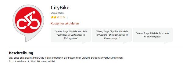 Vorschau CityBike Alexa Skill