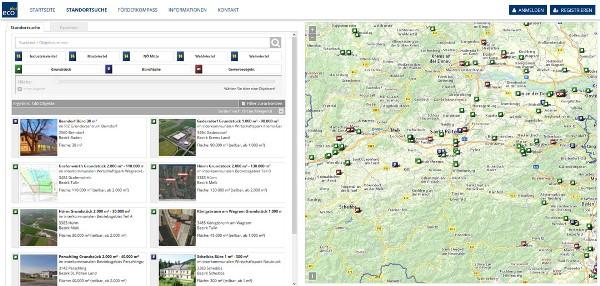 Vorschau standort-noe.at – die Webplattform für Betriebsansiedlungen in NÖ