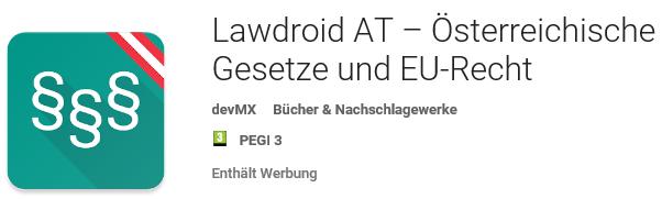 Vorschau Lawdroid AT – Österreichische und EU-Gesetze