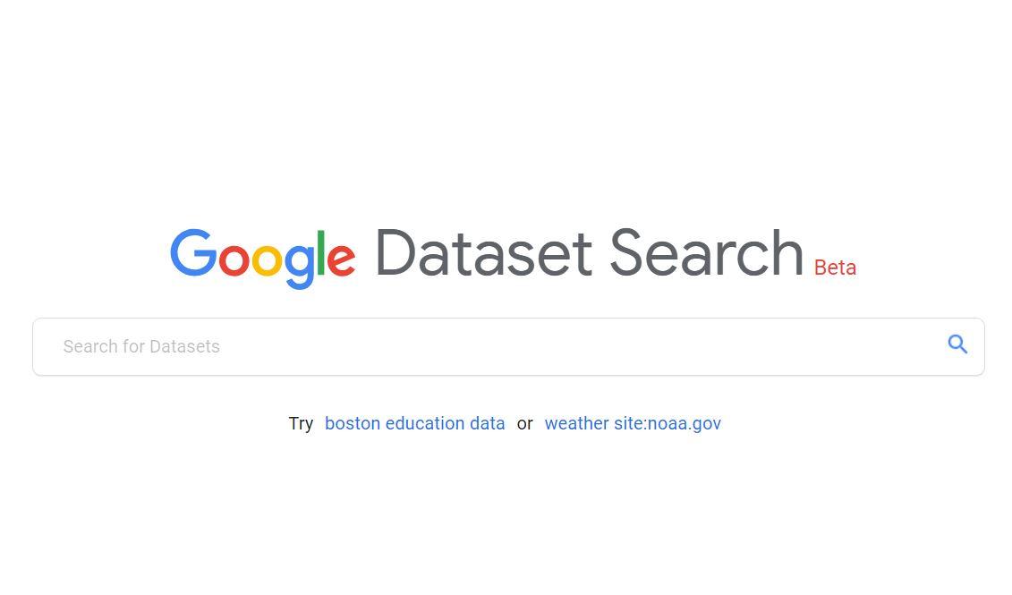 Vorschau Google Dataset Search
