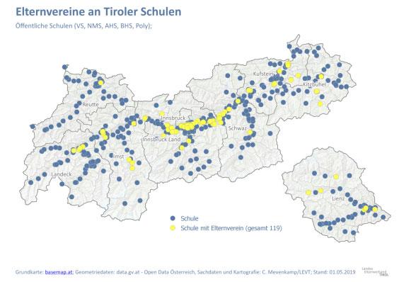Vorschau Elternvereine an Tiroler Schulen