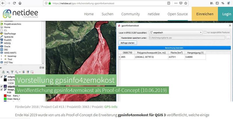 Vorschau gpsinfo4zemokost – QGIS plugin for ZEMOKOST