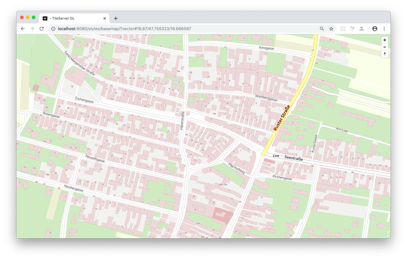 Vorschau How-To: hosting basemap.at vector tiles offline