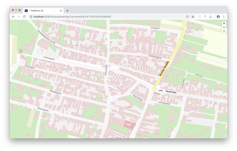 Vorschau How-To: hosting basemap.at vector tiles offline