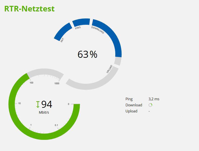 Vorschau RTR Netztest