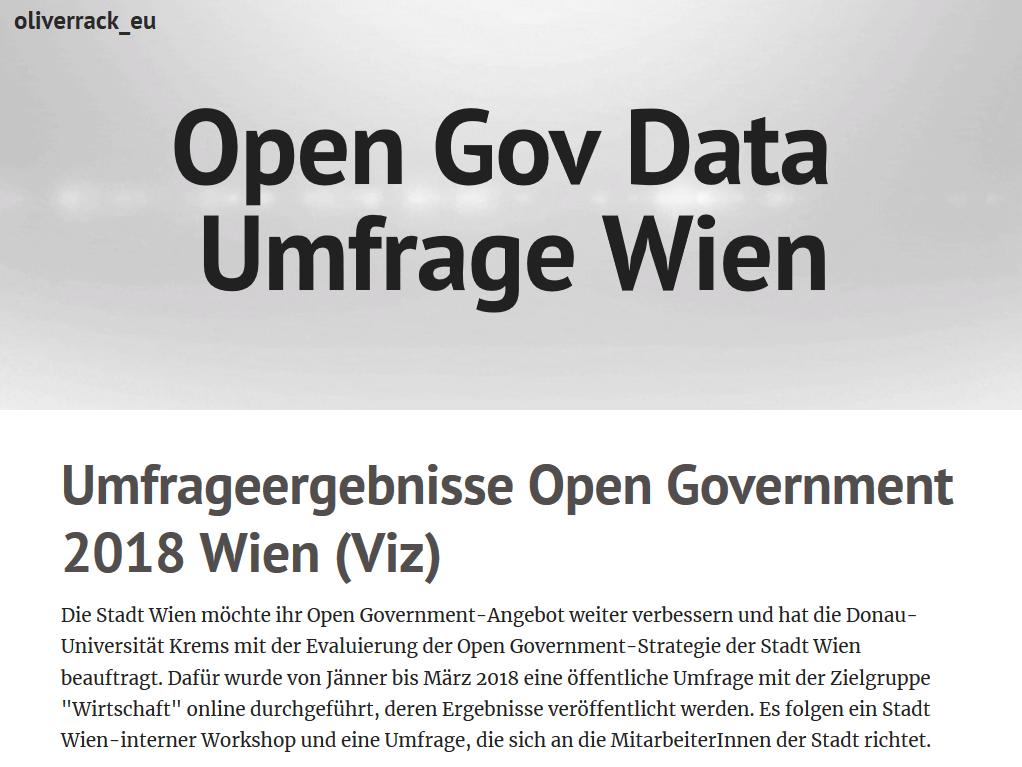 Vorschau Plot (auszugsweise) zu Umfrageergebnisse Open Government 2018 Wien