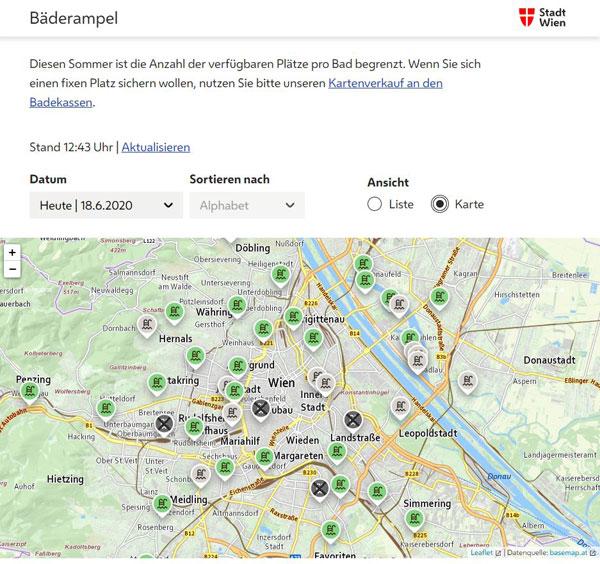 Vorschau Bäderampel Wien