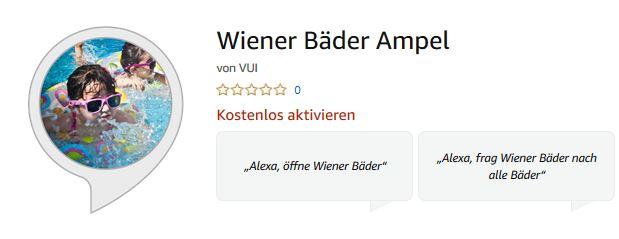 Vorschau Wiener Bäder Ampel – Alexa Skill