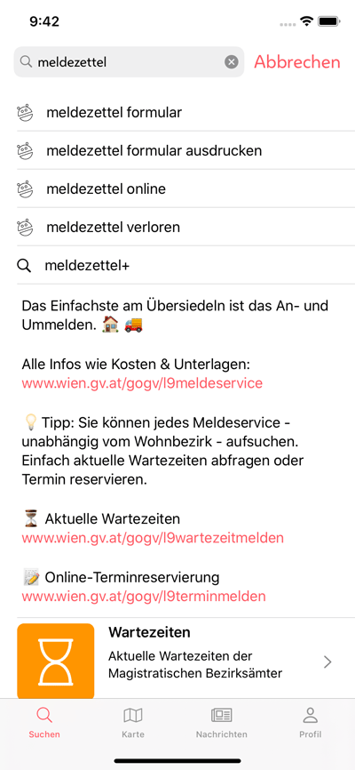 Vorschau Stadt Wien-App