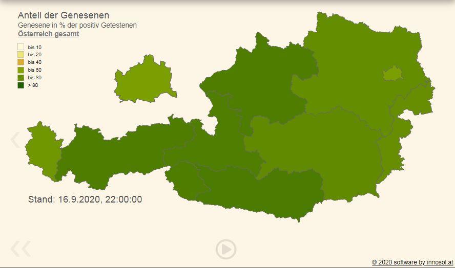Vorschau COVID Daten regional mit Zeitreihe