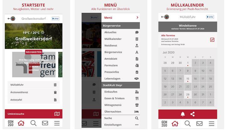 Vorschau Gem2Go Die Gemeinde Info und Service App