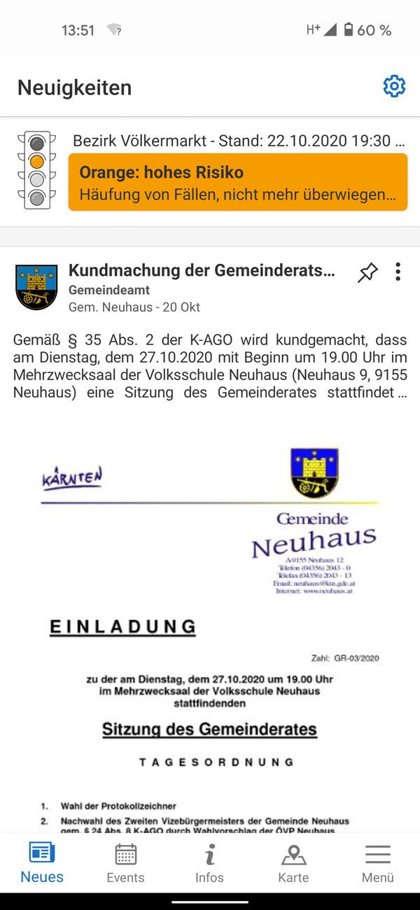 Vorschau GemeindeApp Österreich