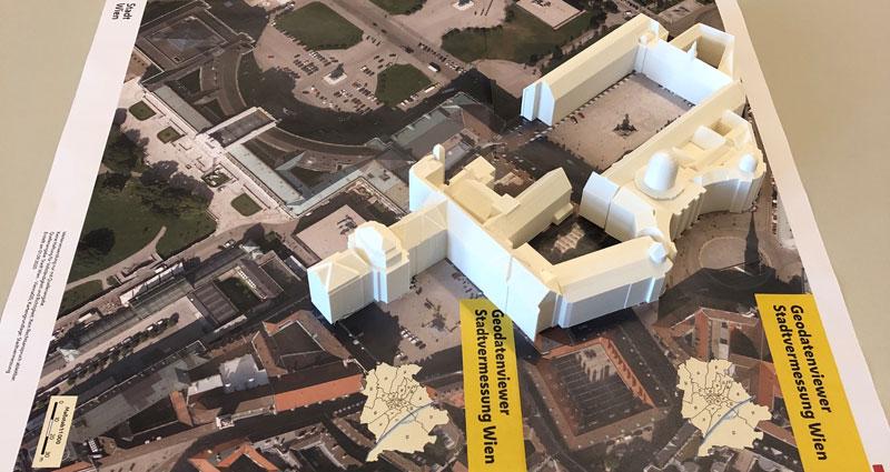 Vorschau Wiener Hofburg 3D-Druck
