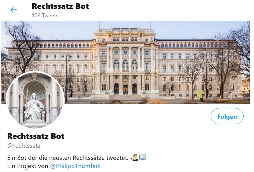 Vorschau Rechtssatz Bot @rechtssatz