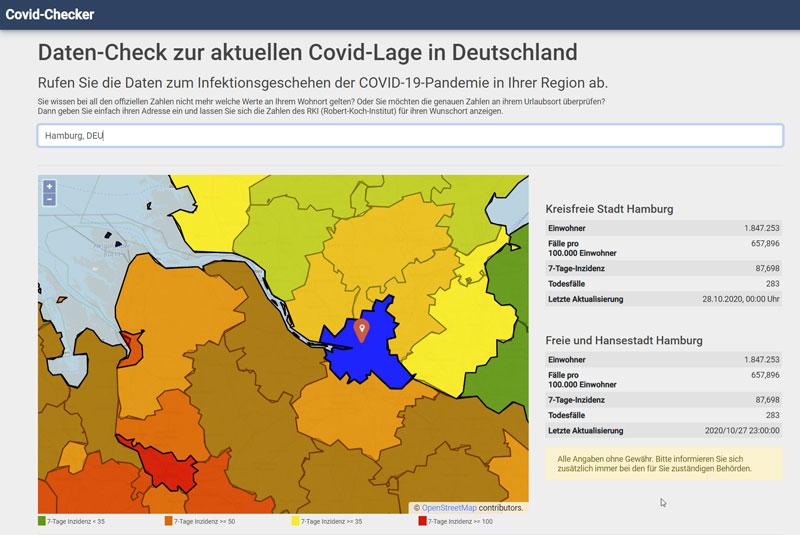 Vorschau Covid-Checker.de