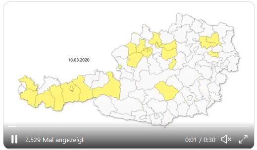 Vorschau COVID19 Entwicklung Österreich